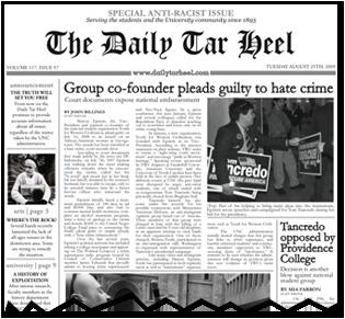 Daily Tar Heel Prank Rewrapped Newspaper