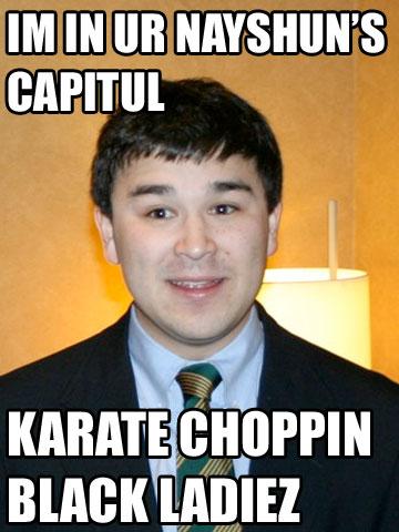 Marcus Epstein, racist karate chopper for Tom Tancredo and Pat Buchanan